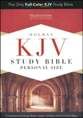 KJV Personal Size Study Bible, Smoke and Slate LeatherTouch - Imperfectly Imprinted Bibles