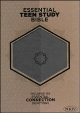 NKJV Essential Teen Study Bible, Charcoal LeatherTouch