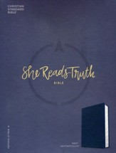 CSB She Reads Truth Bible, Navy LeatherTouch  - Imperfectly Imprinted Bibles