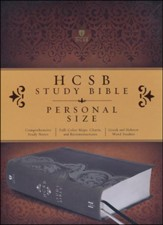 HCSB Personal Size Study Bible, Smoke and Slate LeatherTouch, Thumb-Indexed