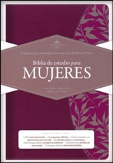 Biblia de Estudio para Mujeres RVR 1960, Simil Piel Vino, Ind.  (RVR 1960 Study Bible for Women, Burgundy LeatherTouch, Ind.) - Slightly Imperfect