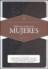 Biblia de estudio para mujeres RVR 1960, simil piel cafe (Study Bible for Women, Brown LeatherTouch)