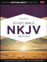 Holman Study Bible: NKJV Edition, Suede & Chocolate LeatherTouch