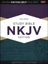 NKJV Holman Study Bible Mother's Edition, Turquoise LeatherTouch