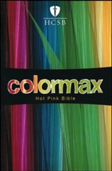 HCSB Large Print Compact ColorMax Bible, Hot Pink LeatherTouch