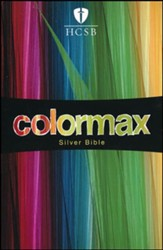 HCSB Large Print Compact ColorMax Bible, Silver LeatherTouch