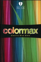 HCSB Large Print Compact ColorMax Bible, Electric Blue LeatherTouch