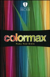 HCSB Large Print Compact ColorMax Bible, Ruby Red LeatherTouch