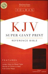 KJV Super Giant Print Reference Bible, Brown LeatherTouch, Thumb-Indexed