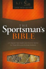 KJV Sportsman's Large-Print Bible--mothwing camouflage