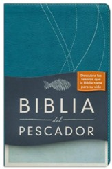 Biblia del Pescador RVR 1960, Símil Piel, Azul Aqua (Fisher of Men Bible, Deep Aqua Imitation Leather)
