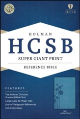 HCSB Super Giant Print Reference Bible, Teal LeatherTouch , Flower