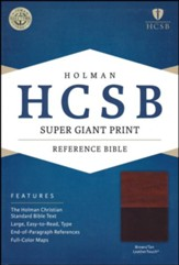 HCSB Super Giant Print Reference Bible, Brown and Tan LeatherTouch