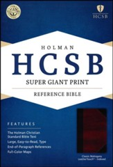 HCSB Super Giant Print Reference Bible, Classic Mahogany LeatherTouch, Thumb-Indexed