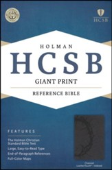 HCSB Giant Print Reference Bible, Charcoal LeatherTouch,Thumb-Indexed