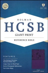 HCSB Giant Print Reference Bible, Purple LeatherTouch, Thumb-Indexed