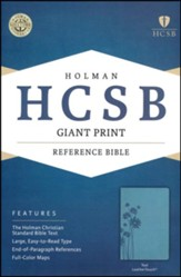 HCSB Giant Print Reference Bible, Teal LeatherTouch, Flower