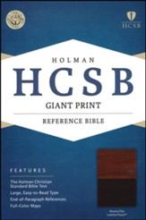 HCSB Giant Print Reference Bible, Brown and Tan LeatherTouch