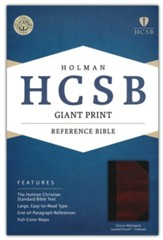 HCSB Giant Print Reference Bible, Classic Mahogany LeatherTouch, Thumb-Indexed