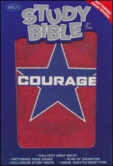 NKJV Study Bible for Kids, Courage LeatherTouch - Slightly Imperfect