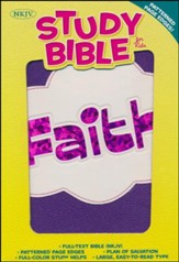 NKJV Study Bible for Kids, Faith LeatherTouch - Slightly Imperfect