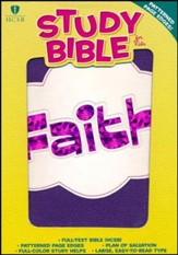HCSB Study Bible for Kids, Faith LeatherTouch - Slightly Imperfect