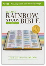 NIV Rainbow Study Bible, Hardcover, Thumb-Indexed