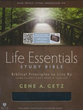 Life Essentials Study Bible, Black Bonded Leather