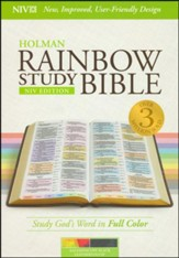NIV Rainbow Study Bible, Kaleidoscope Black LeatherTouch