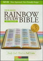 NIV Rainbow Study Bible, Kaleidoscope Black LeatherTouch, Thumb-Indexed