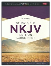 NKJV Large-Print Holman Study Bible, Custom Edition--soft  leather-look, brown