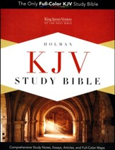 KJV Study Bible--soft leather-look, charcoal