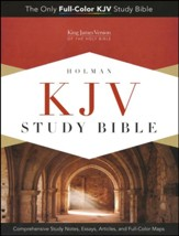 KJV Study Bible--soft leather-look, charcoal (indexed)