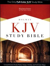 KJV Study Bible--soft leather-look, purple - Slightly Imperfect