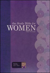 The Study Bible for Women, NKJV Edition, Plum and Lilac Leathertouch, Thumb-Indexed - Imperfectly Imprinted Bibles