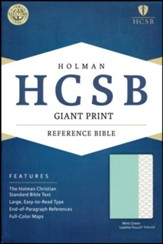 HCSB Giant Print Reference Bible--soft leather-look, mint green (indexed) - Slightly Imperfect