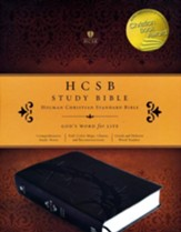 HCSB Study Bible--soft leather-look, charcoal (indexed)