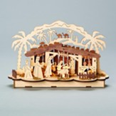 LED, Nativity Scene, Wooden