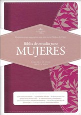 Biblia de estudio para mujeres RVR 1960, simil piel vino (Study Bible for Women, Burgundy LeatherTouch)