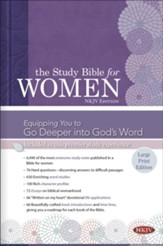 NKJV Study Bible for Women, Large Print Edition, Hardcover, Thumb-Indexed - Slightly Imperfect