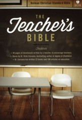 The Teacher's Bible, Green and Tan LeatherTouch
