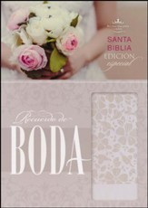 Biblia RVR 1960 Recuerdo de Boda, Piel Simil, Blanco Floral  (RVR 1960 Keepsake Bride's Bible, Simil Piel, Floral White) - Slightly Imperfect