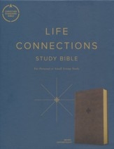 CSB Life Connections Study Bible--Soft leather-look, brown