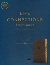 CSB Life Connections Study Bible--soft leather-look, brown (indexed)