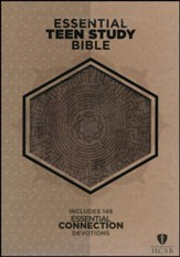 HCSB Essential Teen Study Bible, Gray Cork LeatherTouch