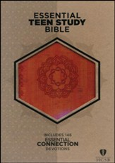 HCSB Essential Teen Study Bible, Orange Cork LeatherTouch