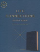 CSB Life Connections Study Bible--soft leather-look, navy