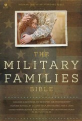 Military Families Bible, Navy and Crimson LeatherTouch