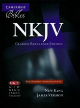 NKJV Clarion Reference Bible--goatskin leather, black - Imperfectly Imprinted Bibles