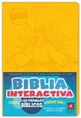 La Gran Historia Biblia Interactiva NTV, Piel Imit. Amarilla  (NTV The Big Picture Interactive Bible, Yellow Imit. Leather)